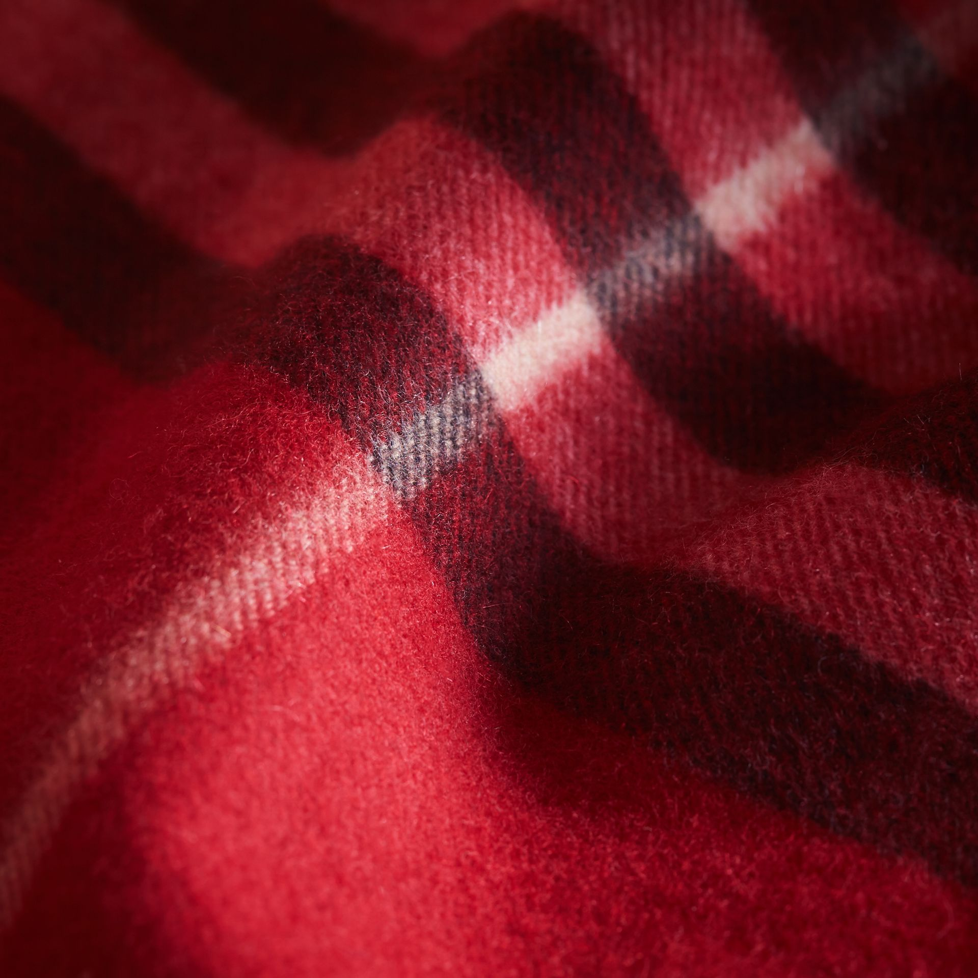 Exploded Check Cashmere Snood in Parade Red - Boy | Burberry United States - gallery image 1