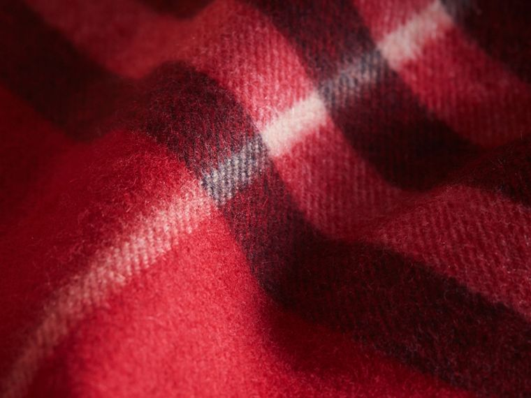 Exploded Check Cashmere Snood in Parade Red - Boy | Burberry United Kingdom - cell image 1