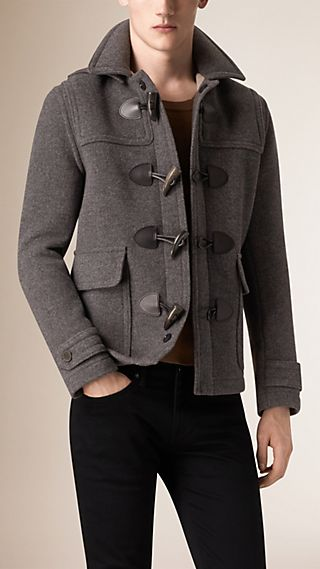 Wool Detachable Hood Duffle Jacket