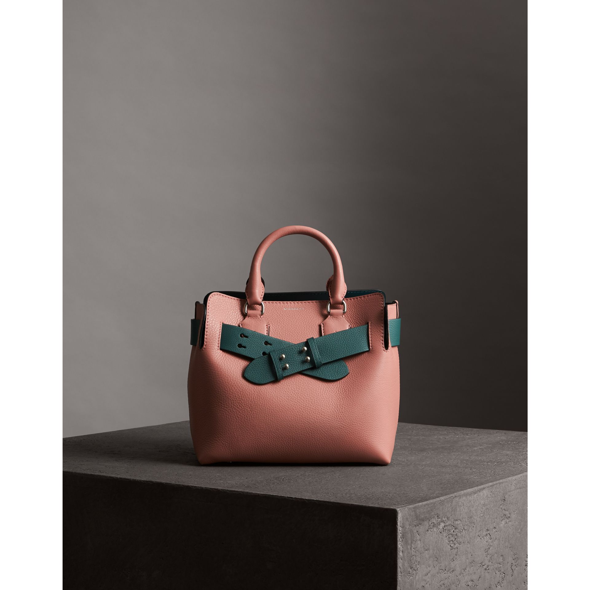 The Small Belt Bag Grainy Leather Belt in Sea Green - Women | Burberry - gallery image 5