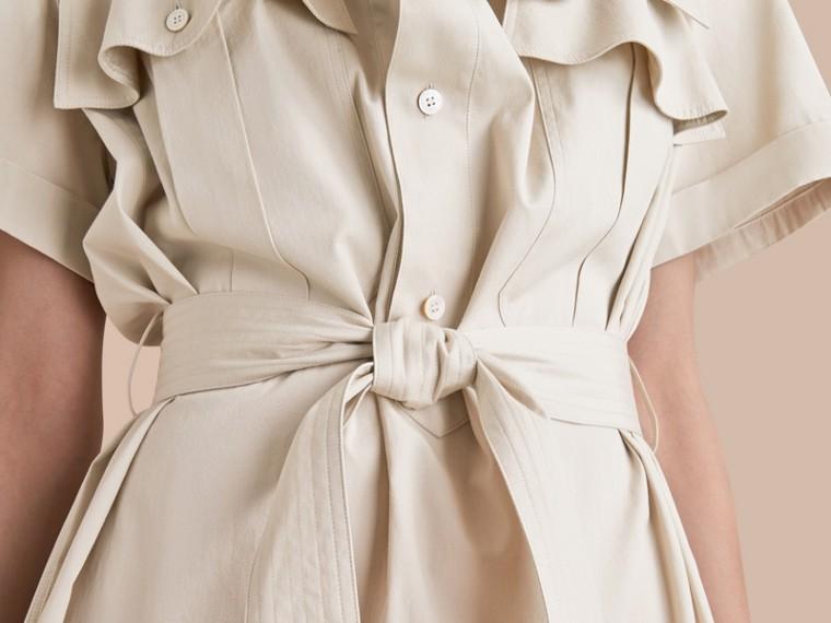 Tie-waist Cotton Shirt Dress - cell image 4