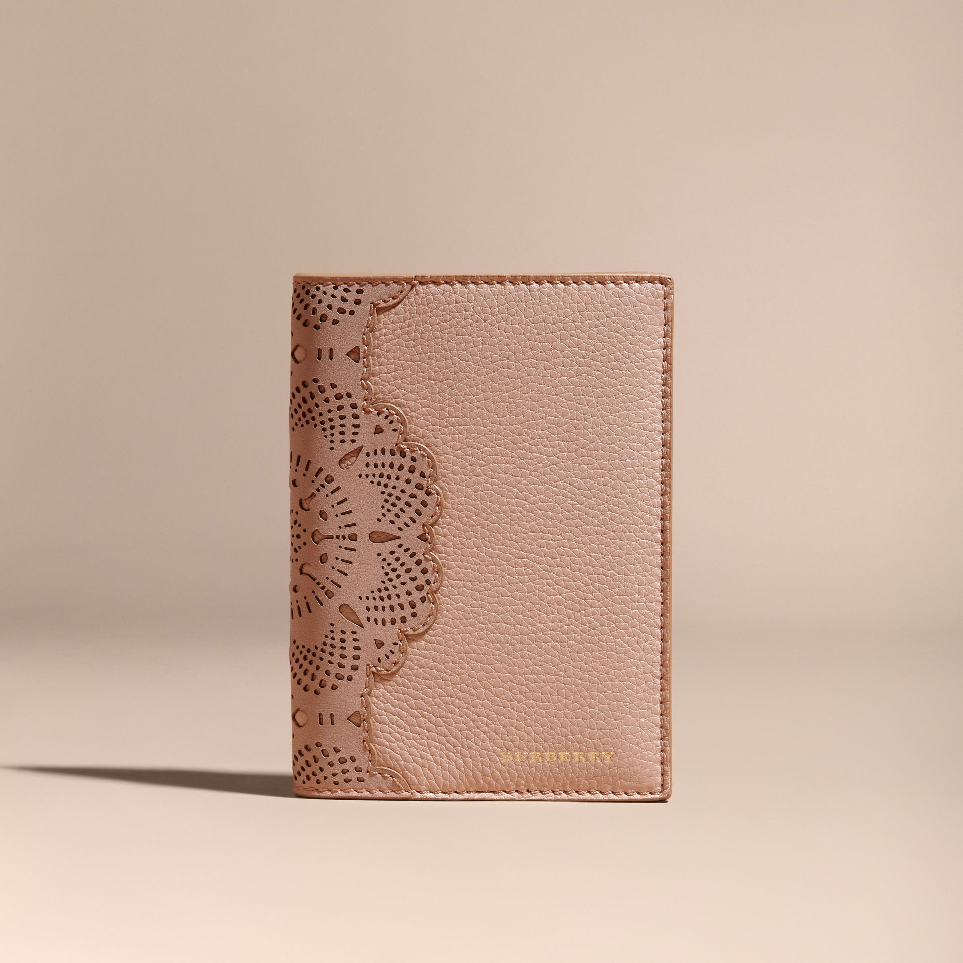 Pale apricot Grainy Leather Passport Cover Pale Apricot - gallery image 6