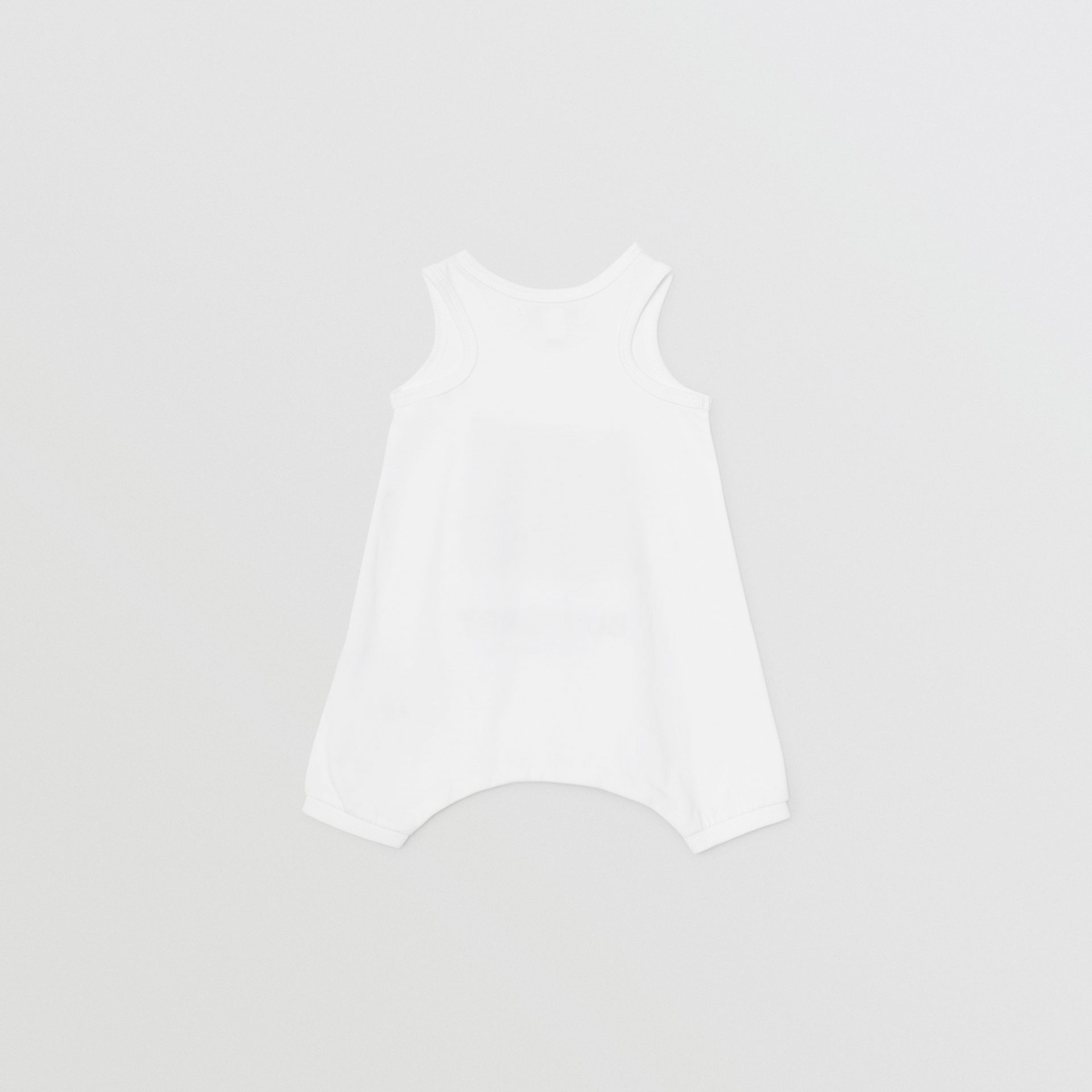 Vintage Photo Print Cotton Bodysuit in White - Children | Burberry Singapore - gallery image 3