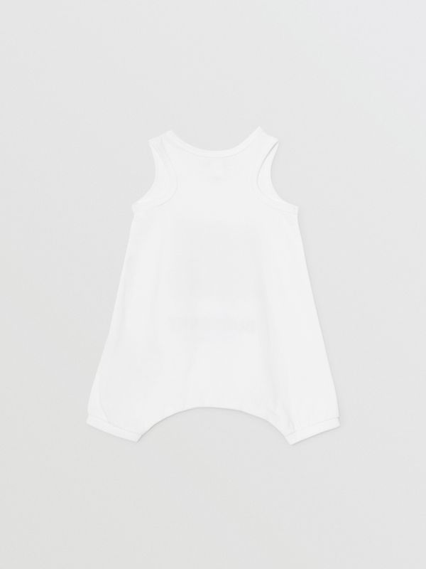 Vintage Photo Print Cotton Bodysuit in White - Children | Burberry - cell image 3