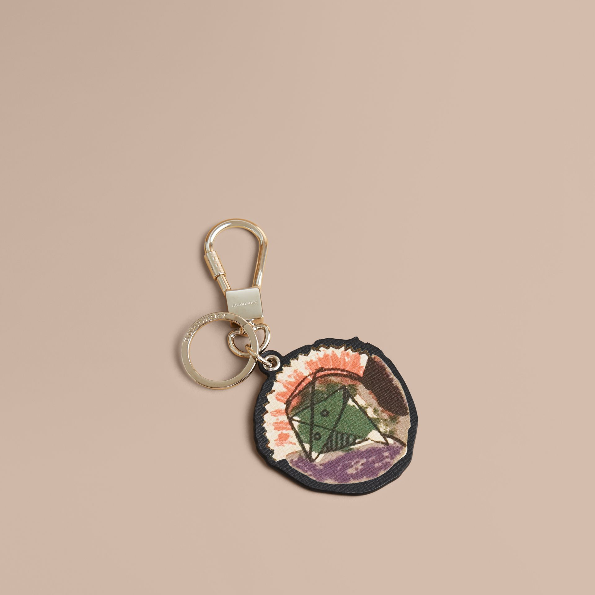 Pallas Heads Print Leather Key Ring - Men | Burberry - gallery image 1