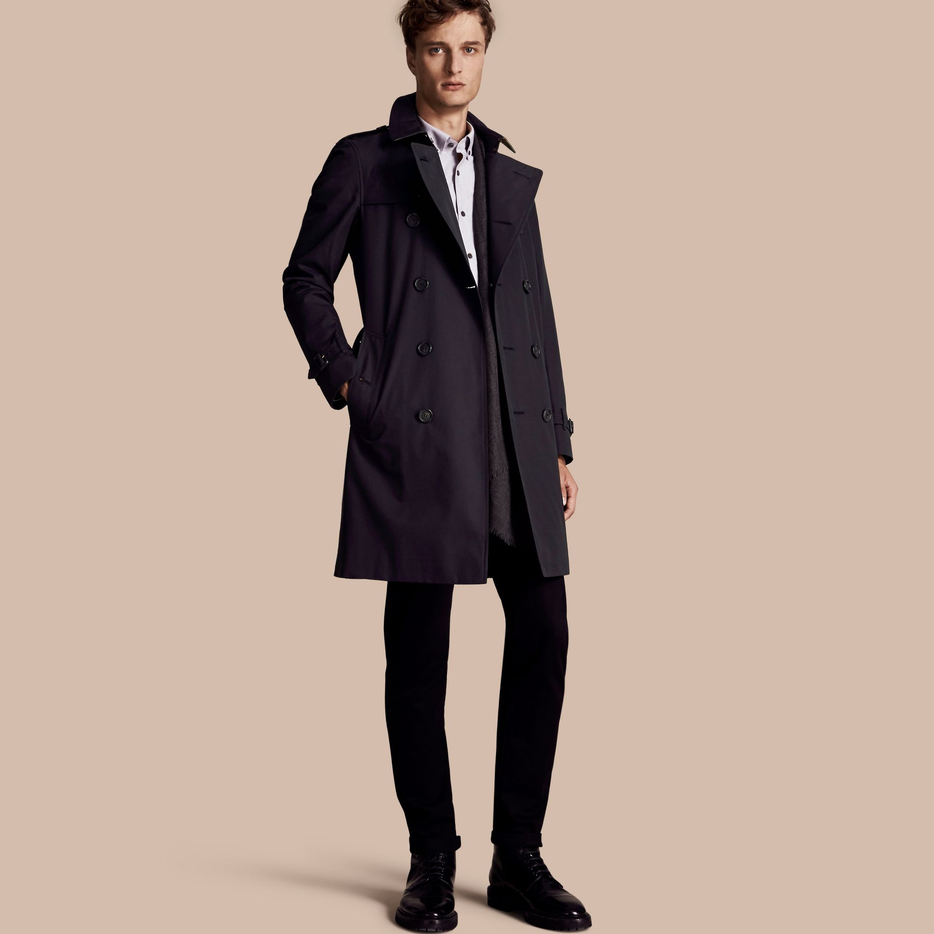 Marine The Sandringham – Trench-coat Heritage long Marine - photo de la galerie 1