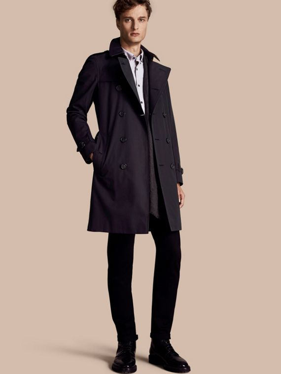 Trench coat Sandringham - Trench coat Heritage largo Azul Marino