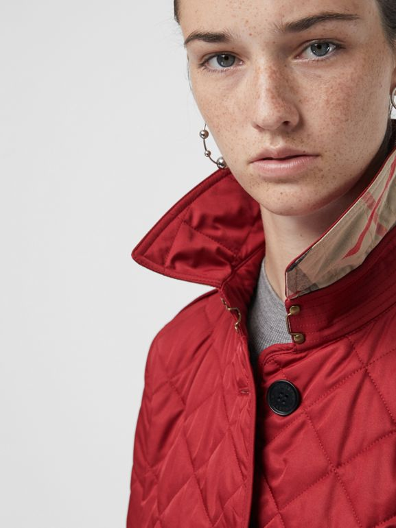 Diamond Quilted Jacket in Parade Red | Burberry - cell image 1