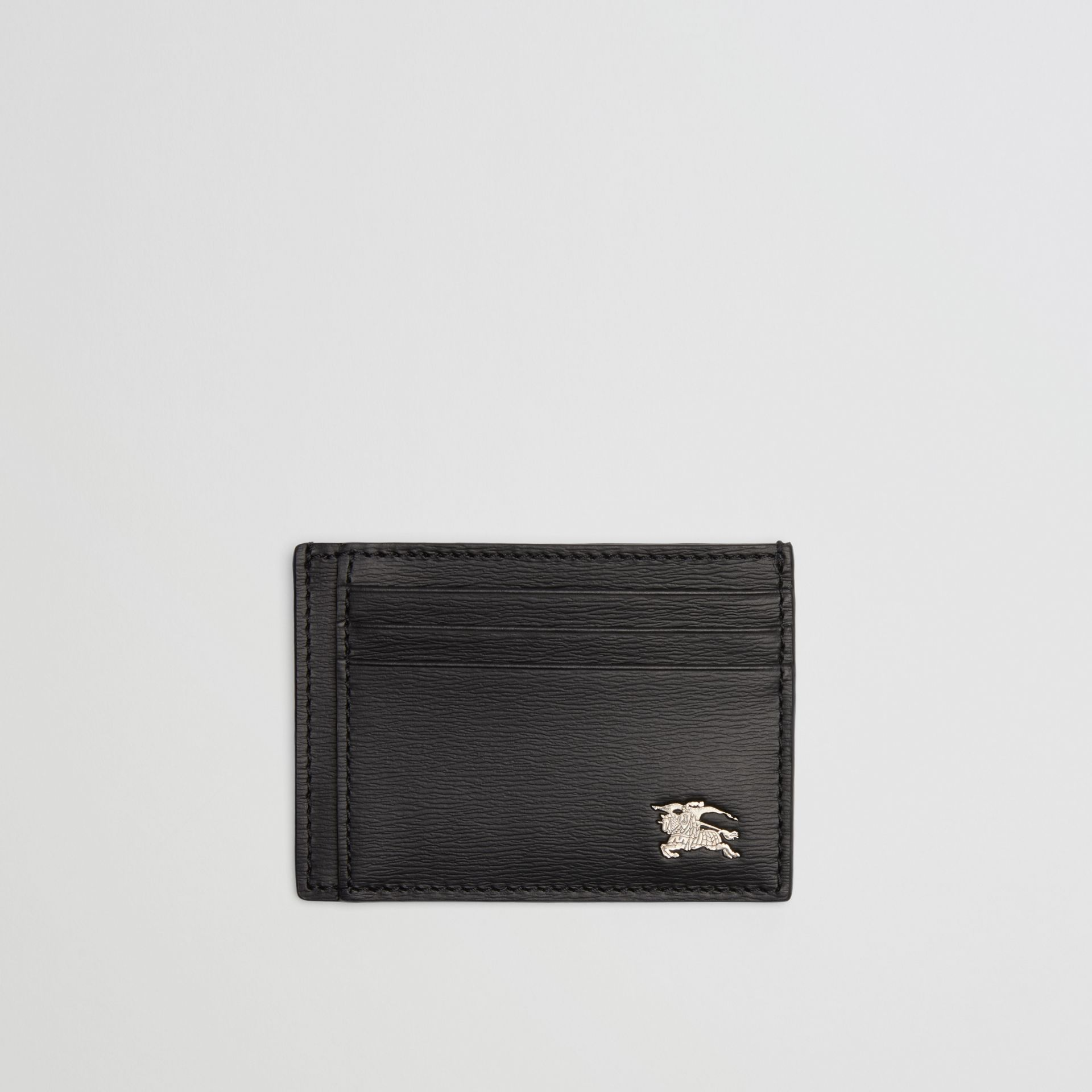 London Leather Card Case in Black - Men | Burberry Australia - gallery image 0