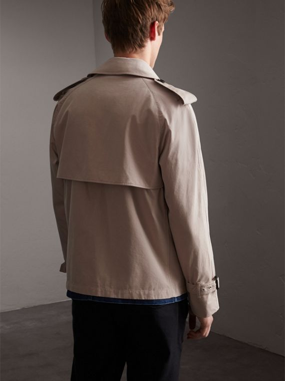 Unisex Tropical Gabardine Trench Jacket in Light Taupe - Men | Burberry - cell image 2