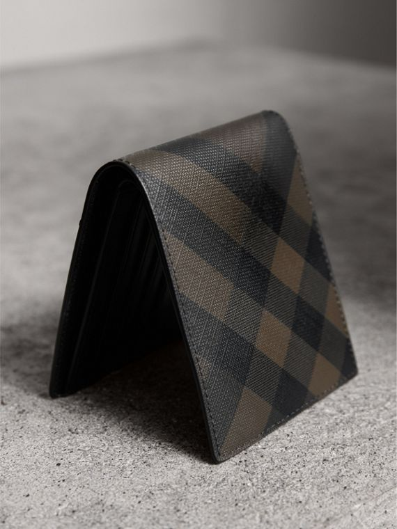 London Check ID Wallet in Chocolate/black - Men | Burberry - cell image 2
