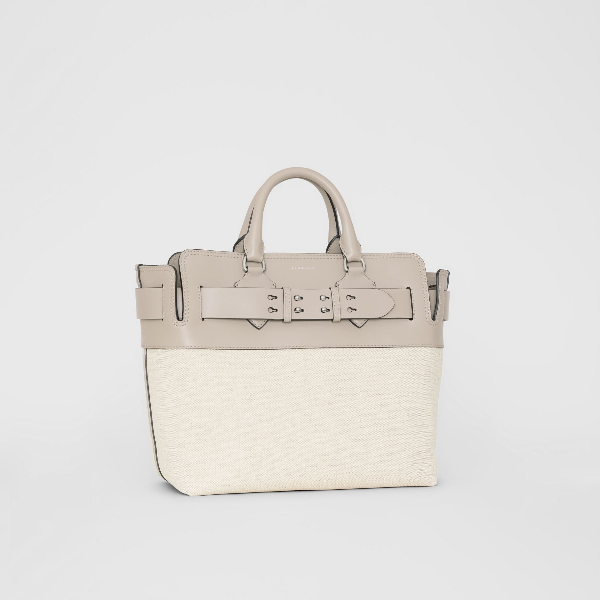 The Medium Canvas and Leather Belt Bag in Grey/stone - Women | Burberry - gallery image 4