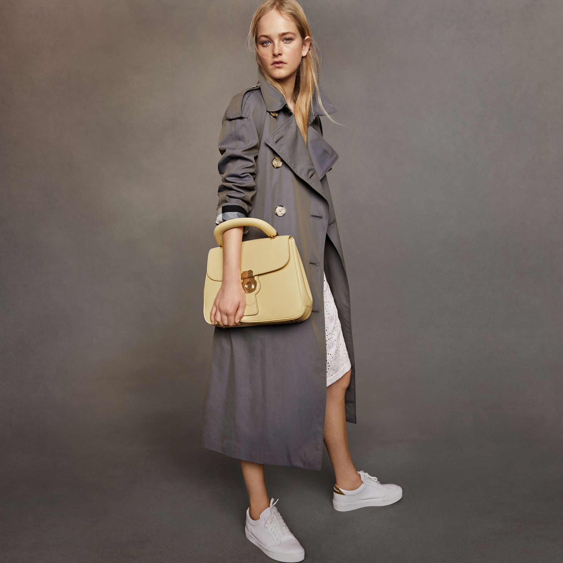 Tropical Gabardine Trench Coat in Storm Blue - Women | Burberry - gallery image 9
