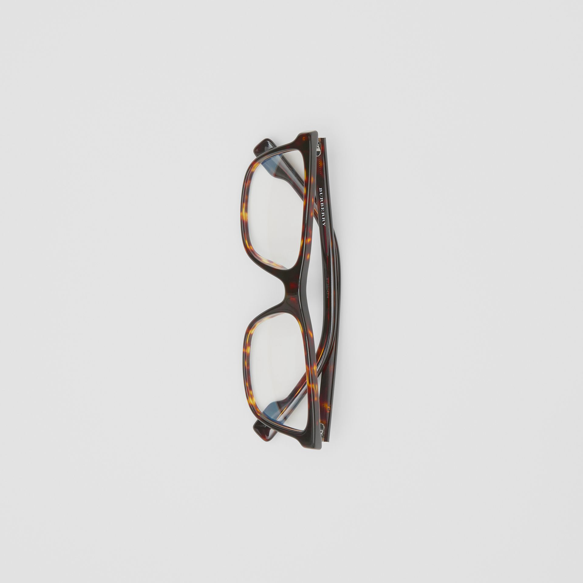 Rectangular Optical Frames in Tortoiseshell - Men | Burberry - gallery image 3