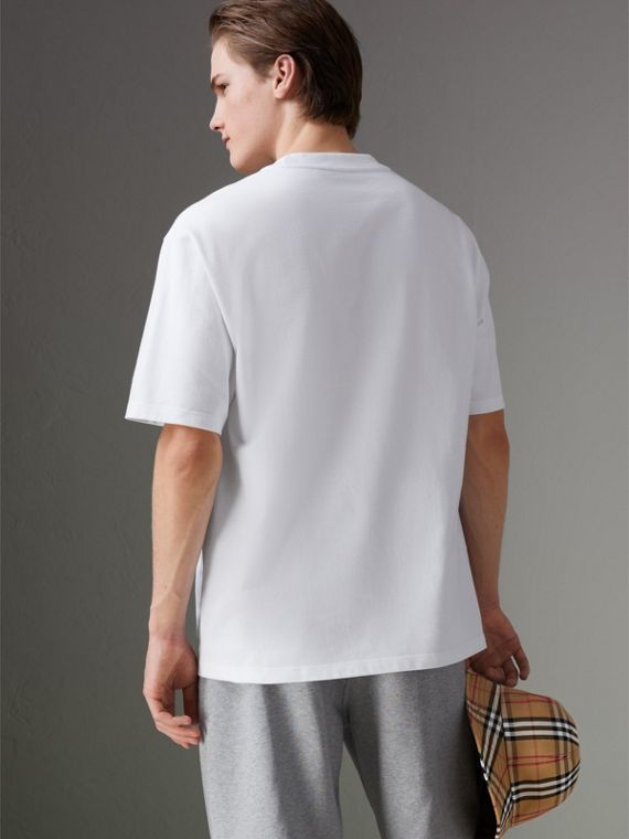 Reissued Cotton T-shirt in White - Men | Burberry Australia - cell image 2