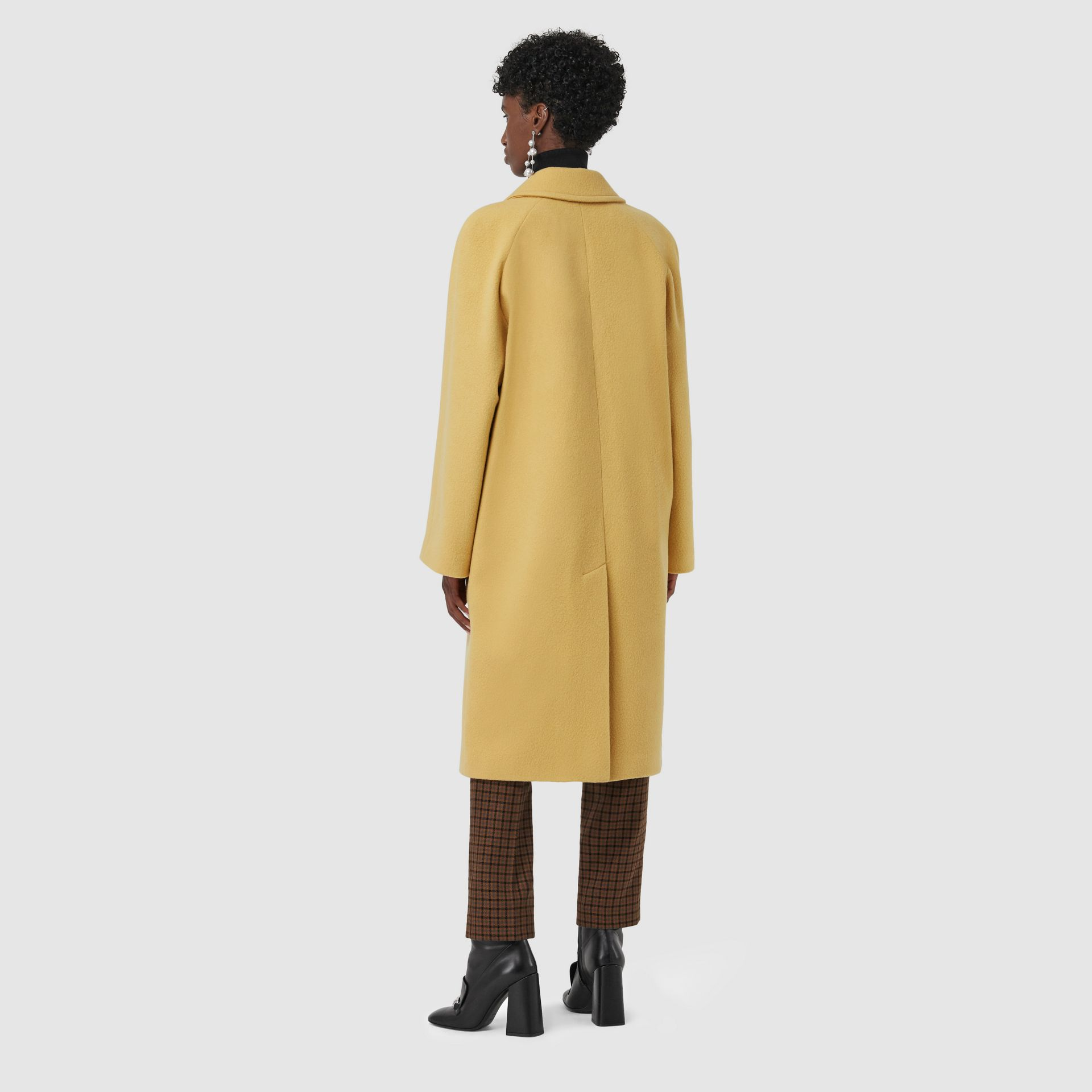 Wool Blend Tailored Coat in Camomile - Women | Burberry - gallery image 1