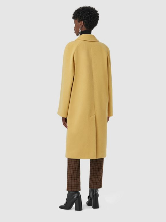 Wool Blend Tailored Coat in Camomile - Women | Burberry - cell image 1