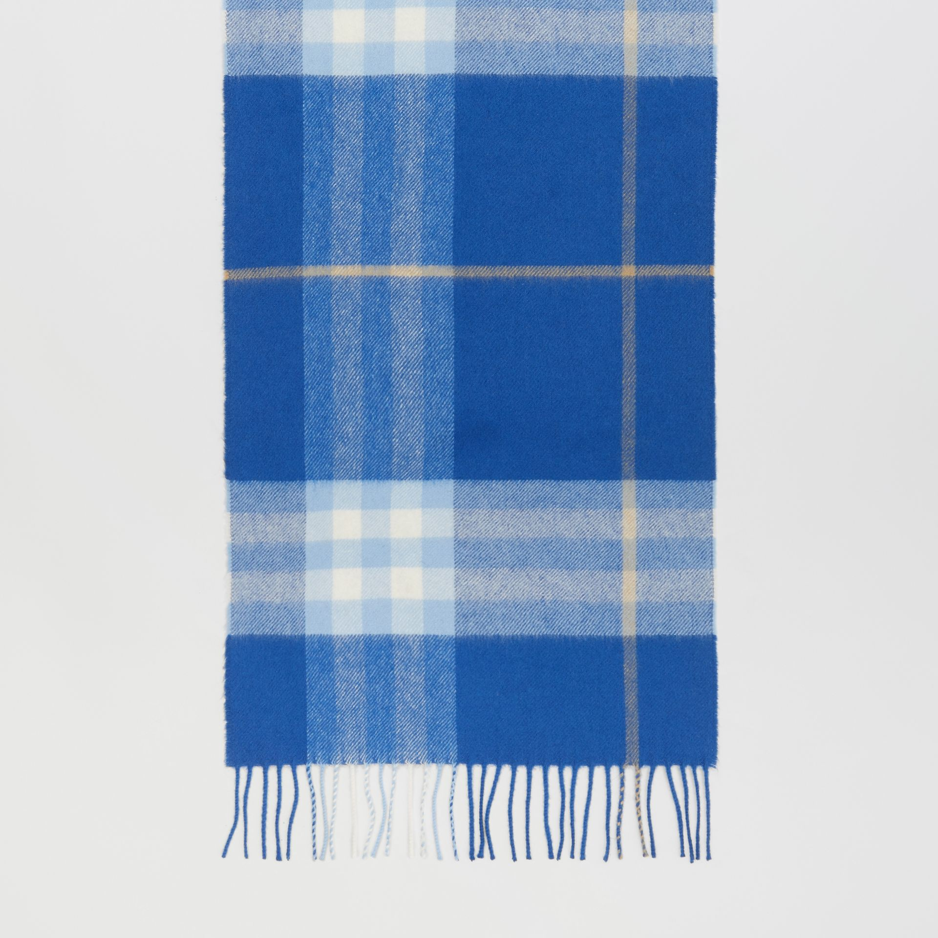 The Classic Check Cashmere Scarf in Inky Blue/bluebell | Burberry United Kingdom - gallery image 3