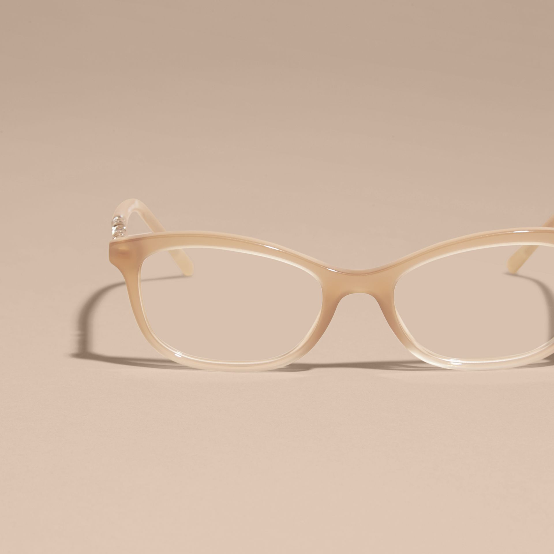 Check Detail Oval Optical Frames Chino Grey - gallery image 5