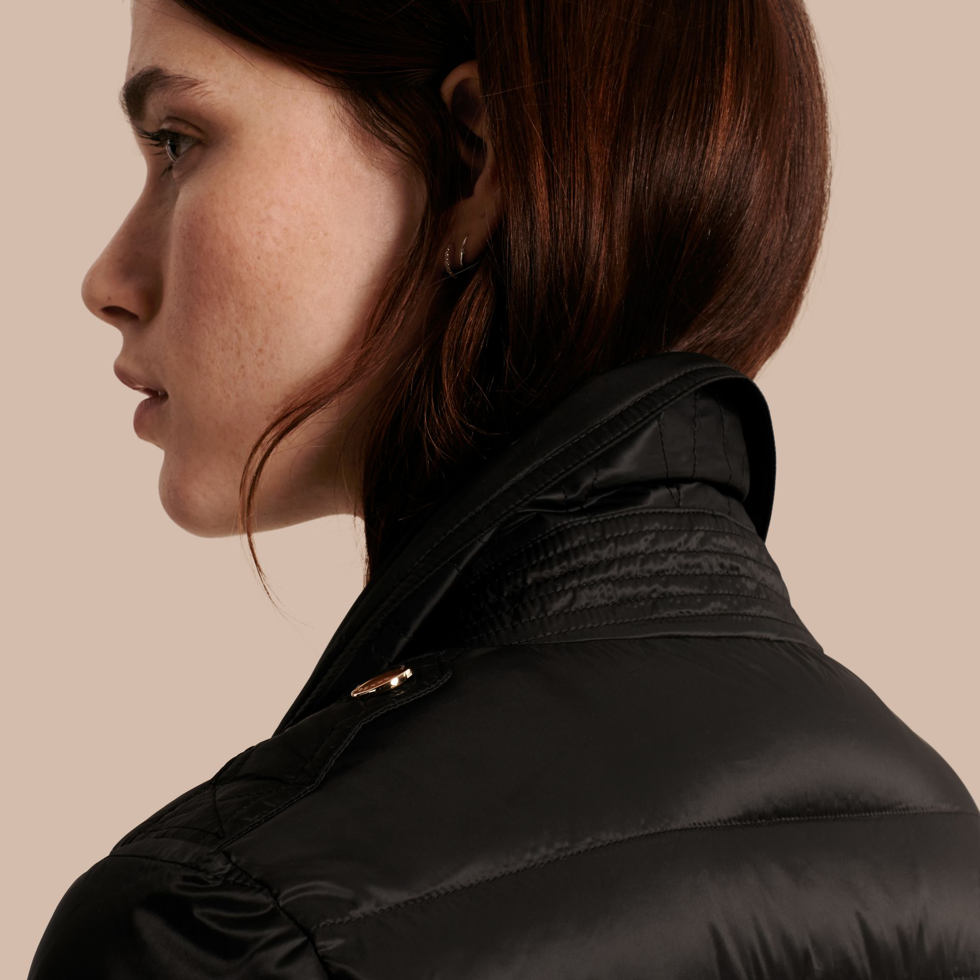 Black Lightweight Down-filled Puffer Jacket - gallery image 5