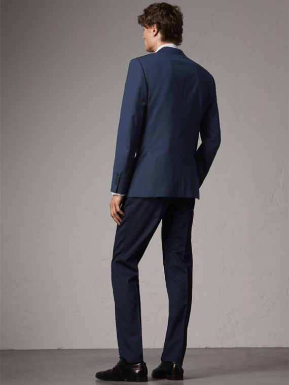 Modern Fit Stretch Wool Suit in Navy - Men | Burberry - cell image 2