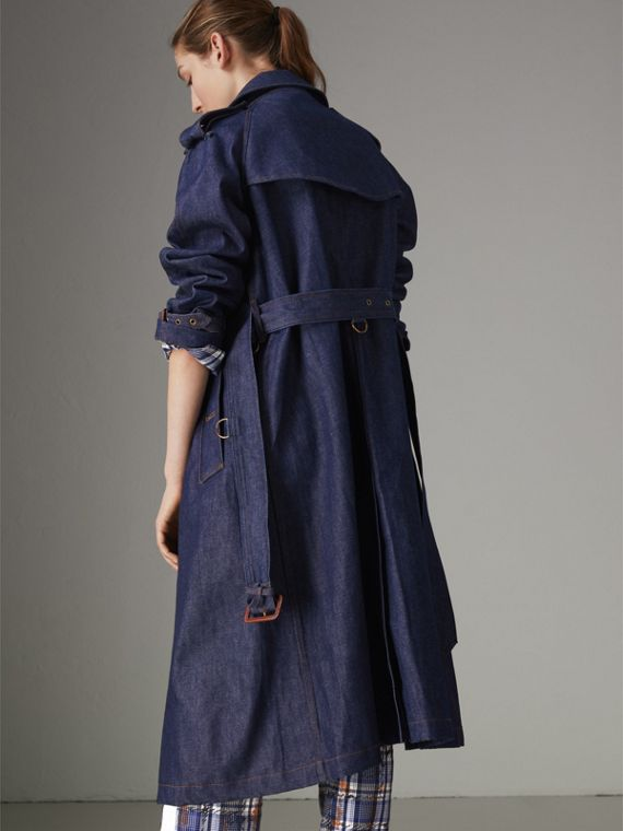 Denim Trench Coat in Dark Cobalt - Women | Burberry Singapore - cell image 2