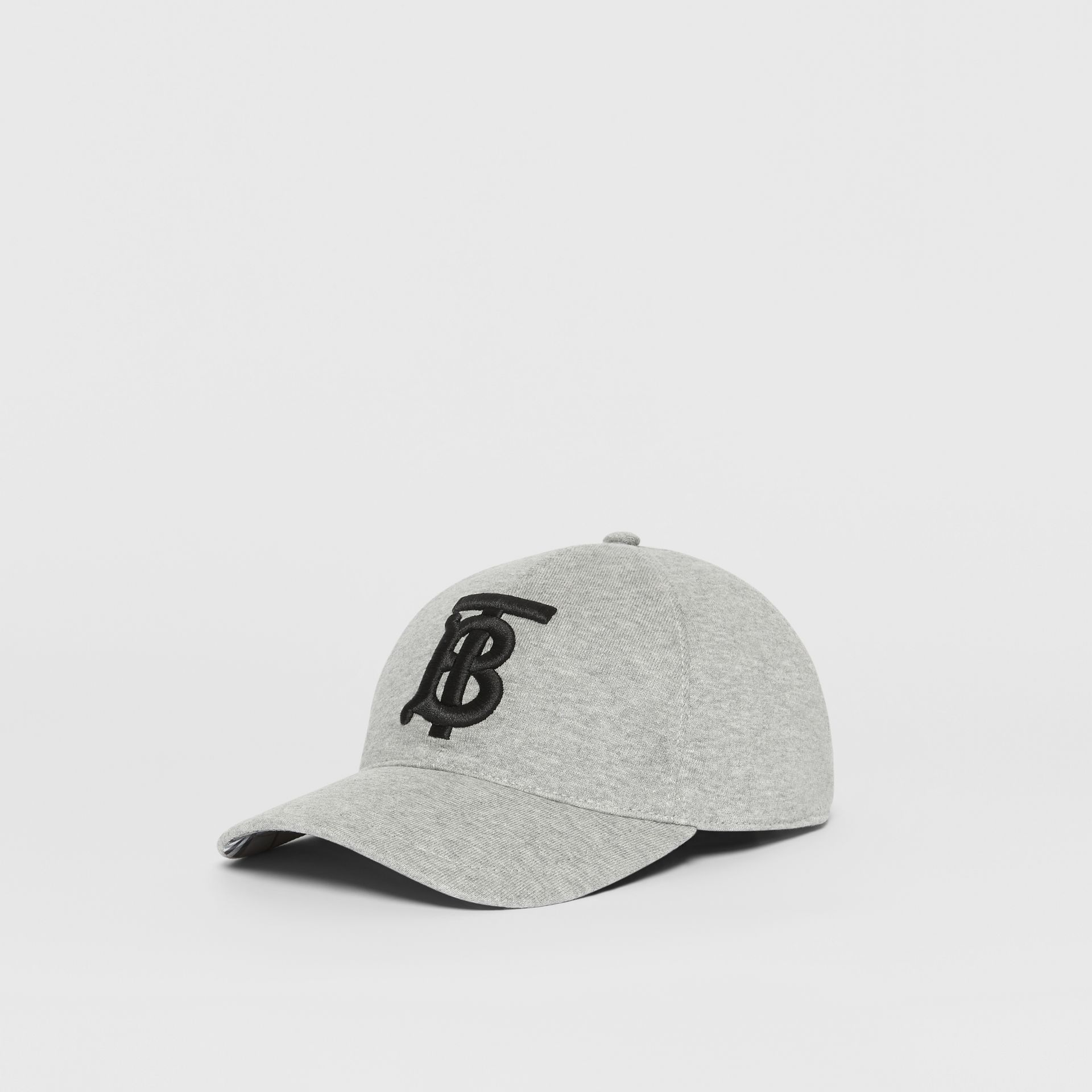 Monogram Motif Baseball Cap in Light Grey Melange | Burberry Singapore - gallery image 5