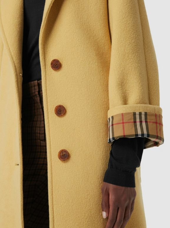 Wool Blend Tailored Coat in Camomile - Women | Burberry Canada - cell image 1