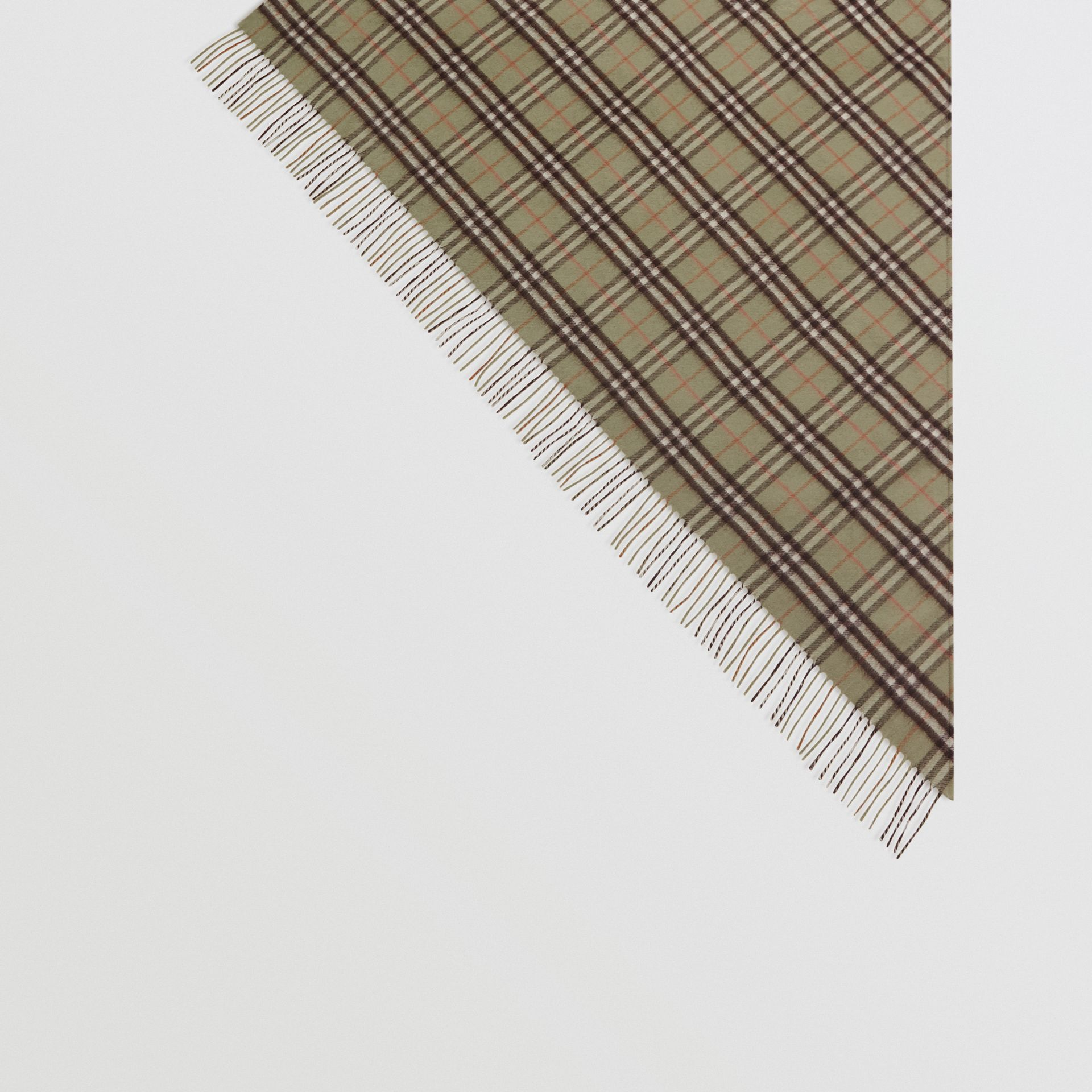 The Burberry Bandana in Check Cashmere in Pale Powder Green | Burberry Australia - gallery image 4