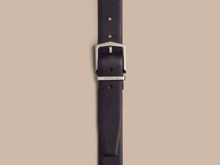 Navy scuro/nero Cintura double face in pelle London Navy Scuro/nero - cell image 1
