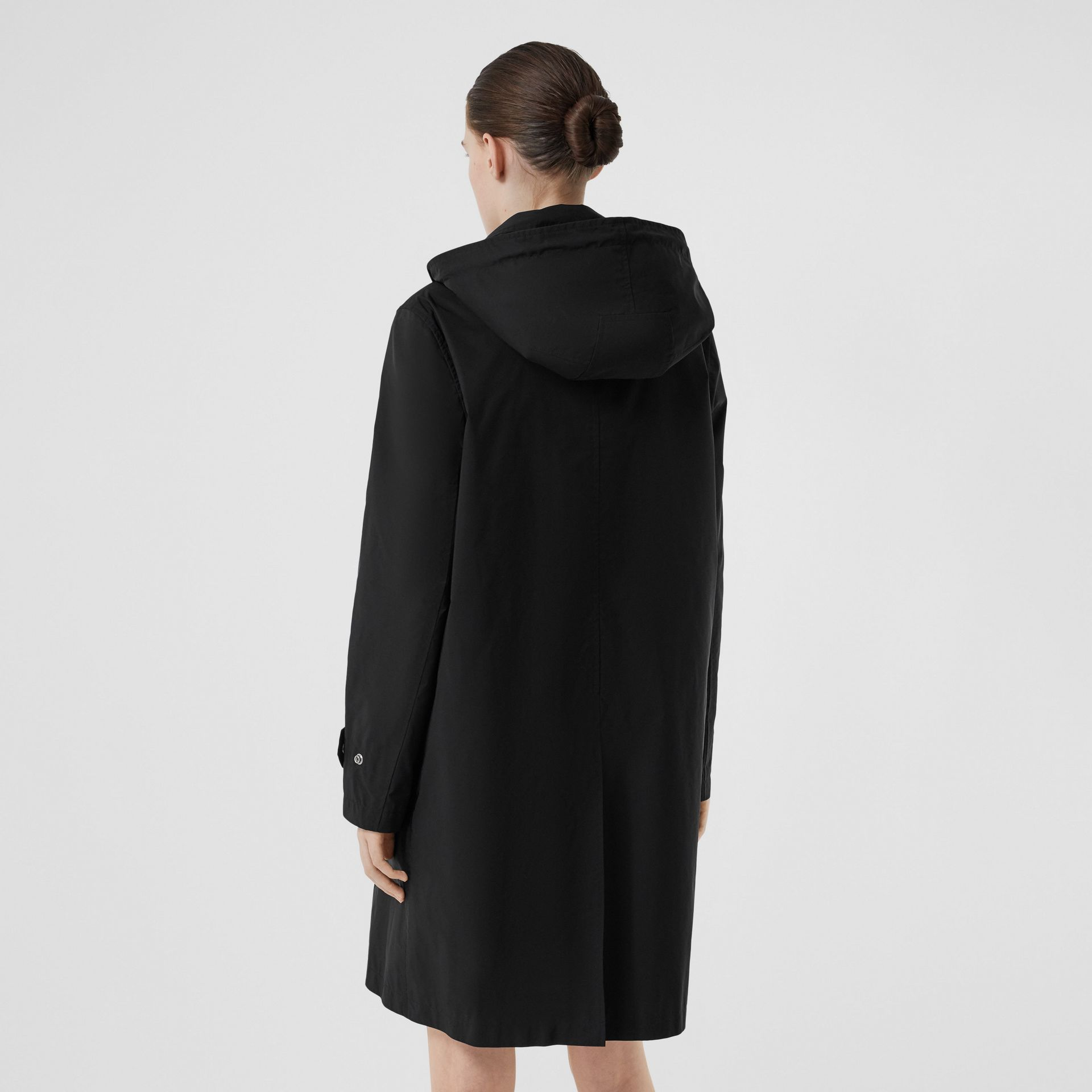 Detachable Hood Shape-memory Taffeta Car Coat in Black - Women | Burberry - gallery image 2