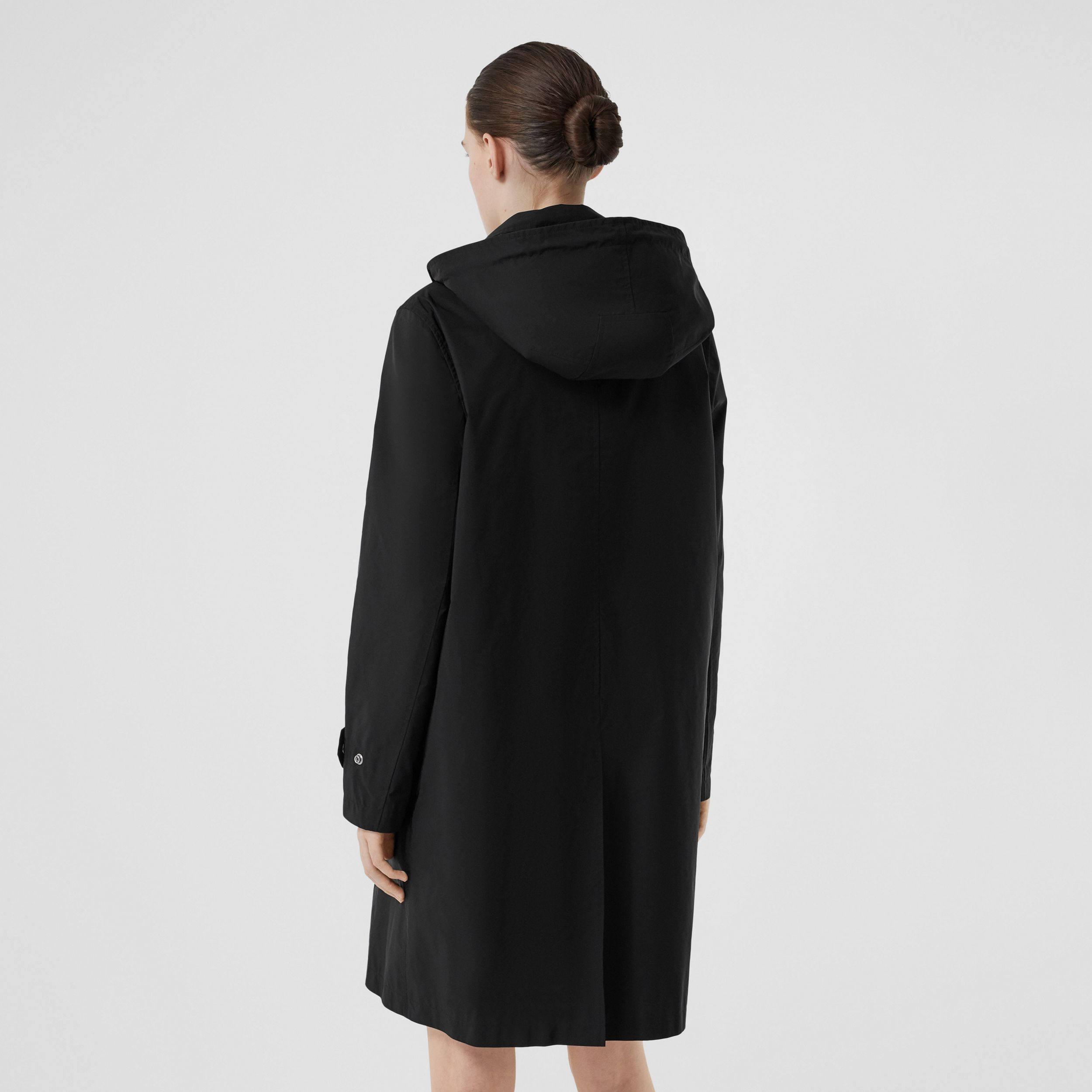 Detachable Hood Shape-memory Taffeta Car Coat in Black - Women | Burberry - 3