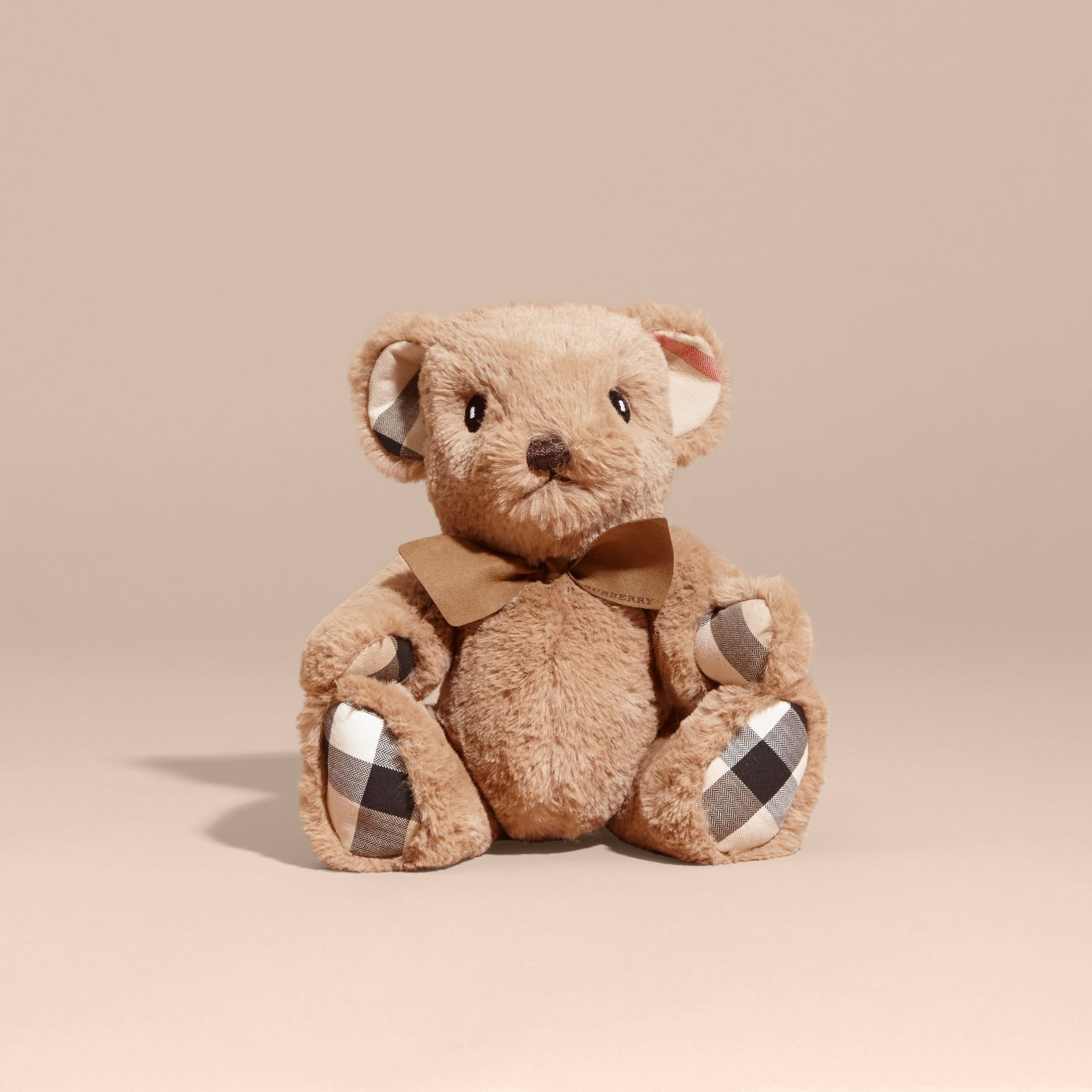 Thomas Baby Bear with Check Detail in Camel - Children | Burberry Australia - gallery image 4