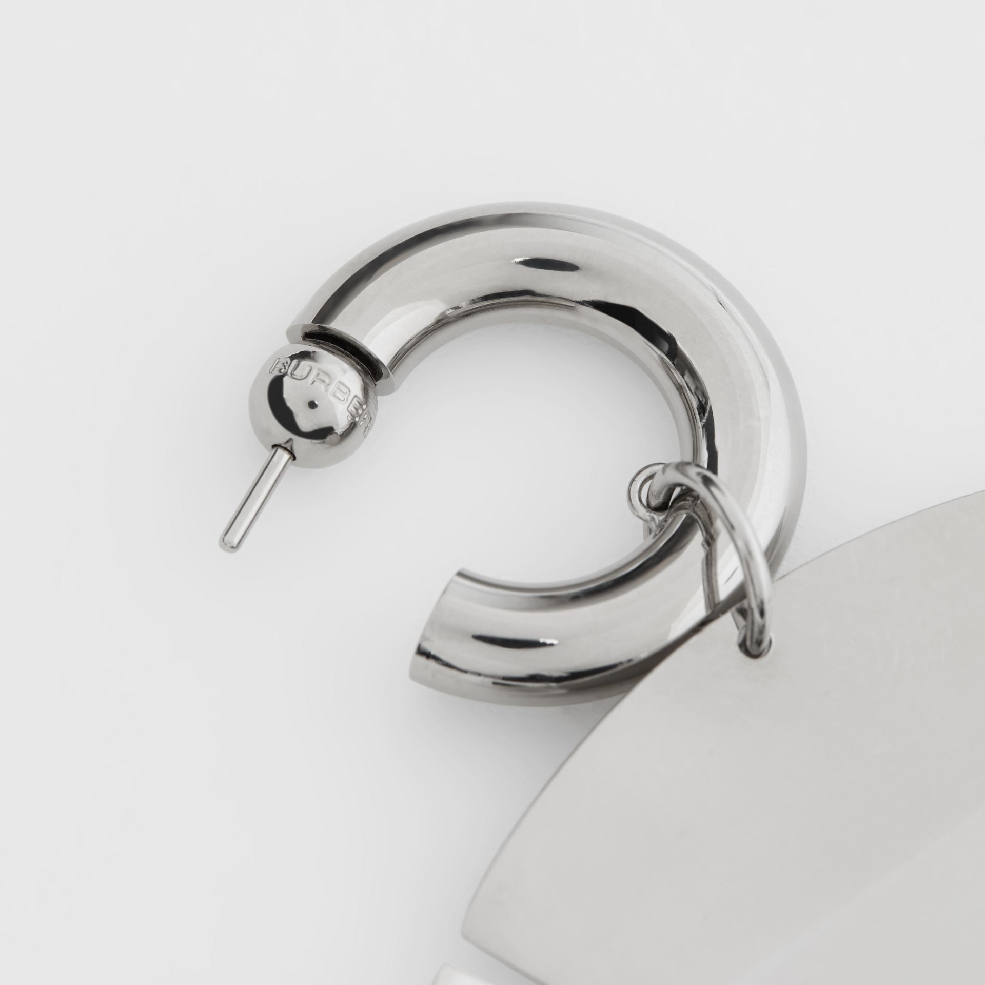 Palladium-plated Paillette Hoop Earrings - Women | Burberry - gallery image 1