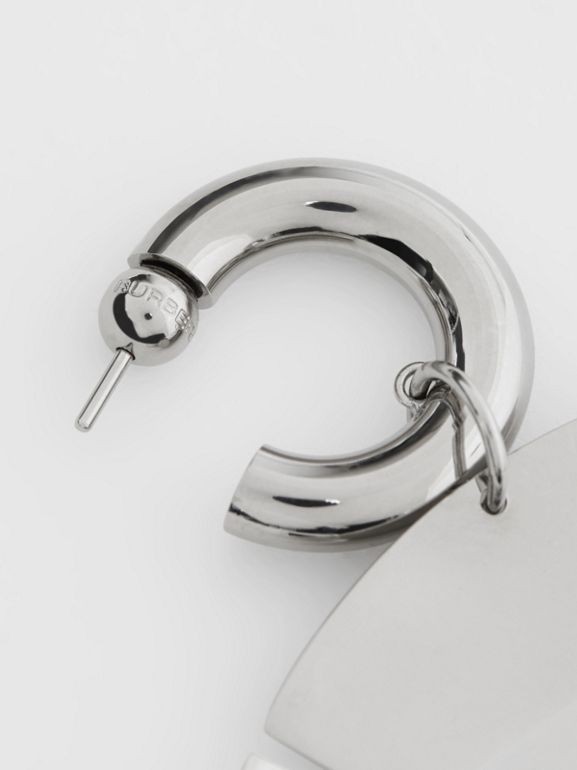 Palladium-plated Paillette Hoop Earrings - Women | Burberry - cell image 1