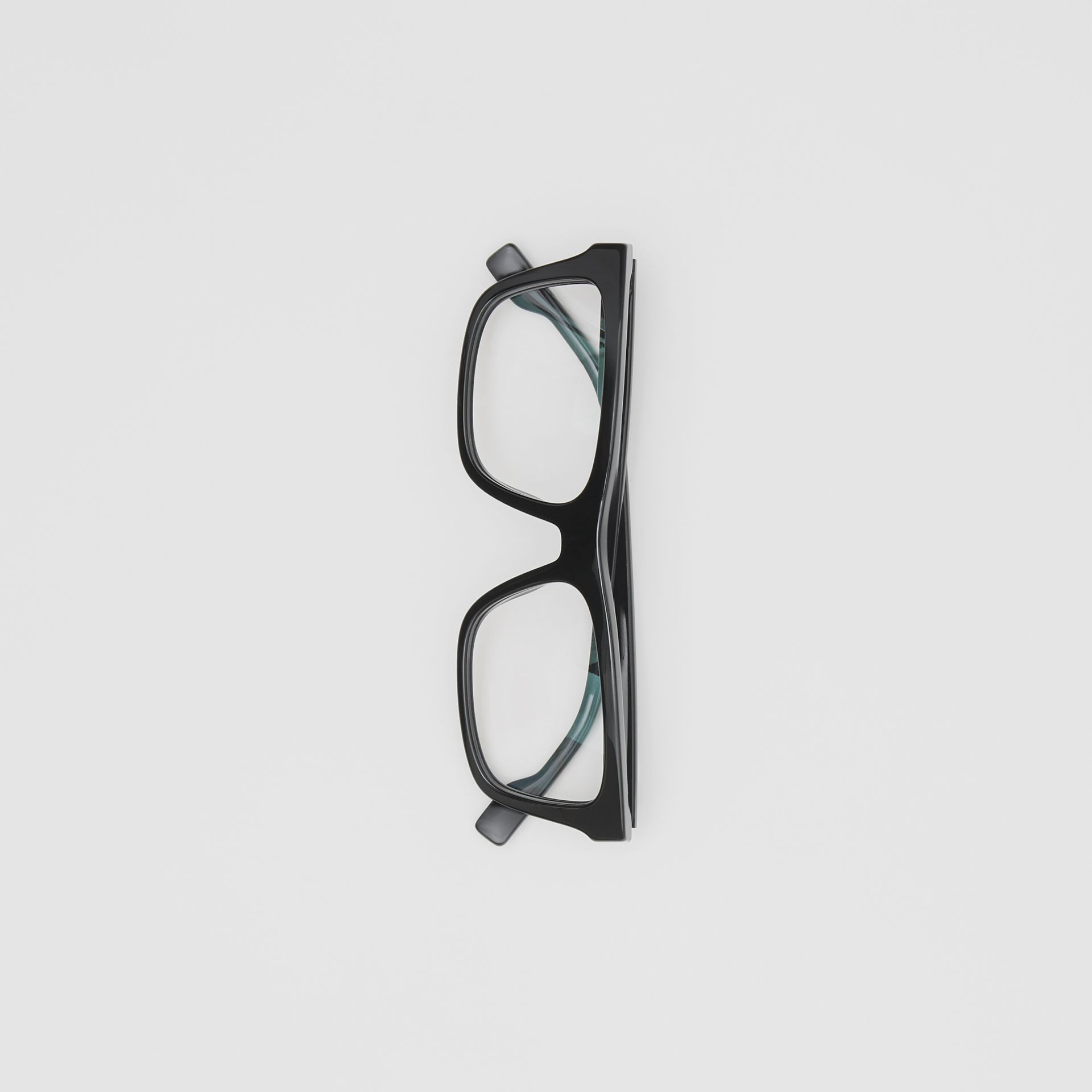 Rectangular Optical Frames in Black - Men | Burberry Hong Kong S.A.R - gallery image 3