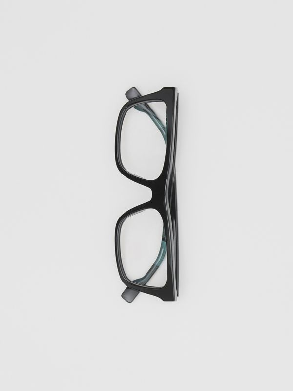 Rectangular Optical Frames in Black - Men | Burberry Hong Kong S.A.R - cell image 3