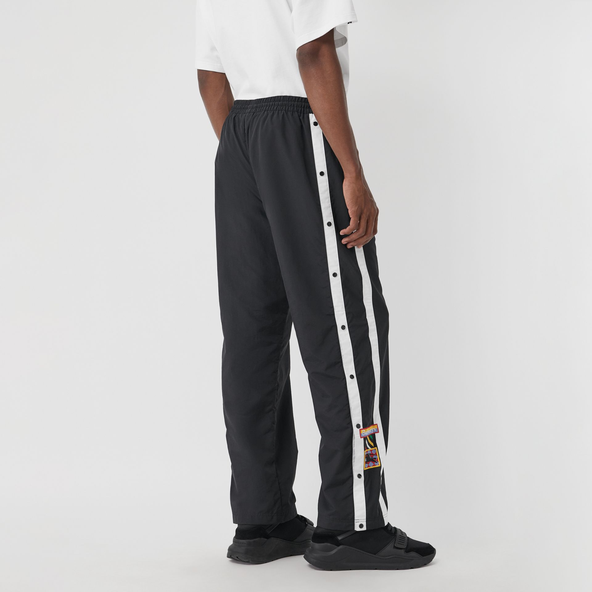 Sport Stripe Jersey Trackpants in Black - Men | Burberry - gallery image 2