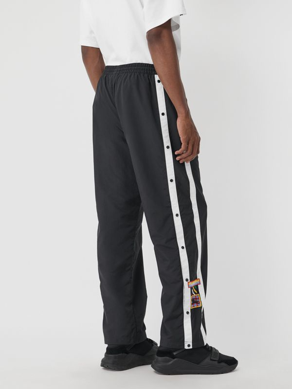 Sport Stripe Jersey Track Pants in Black - Men | Burberry - cell image 2