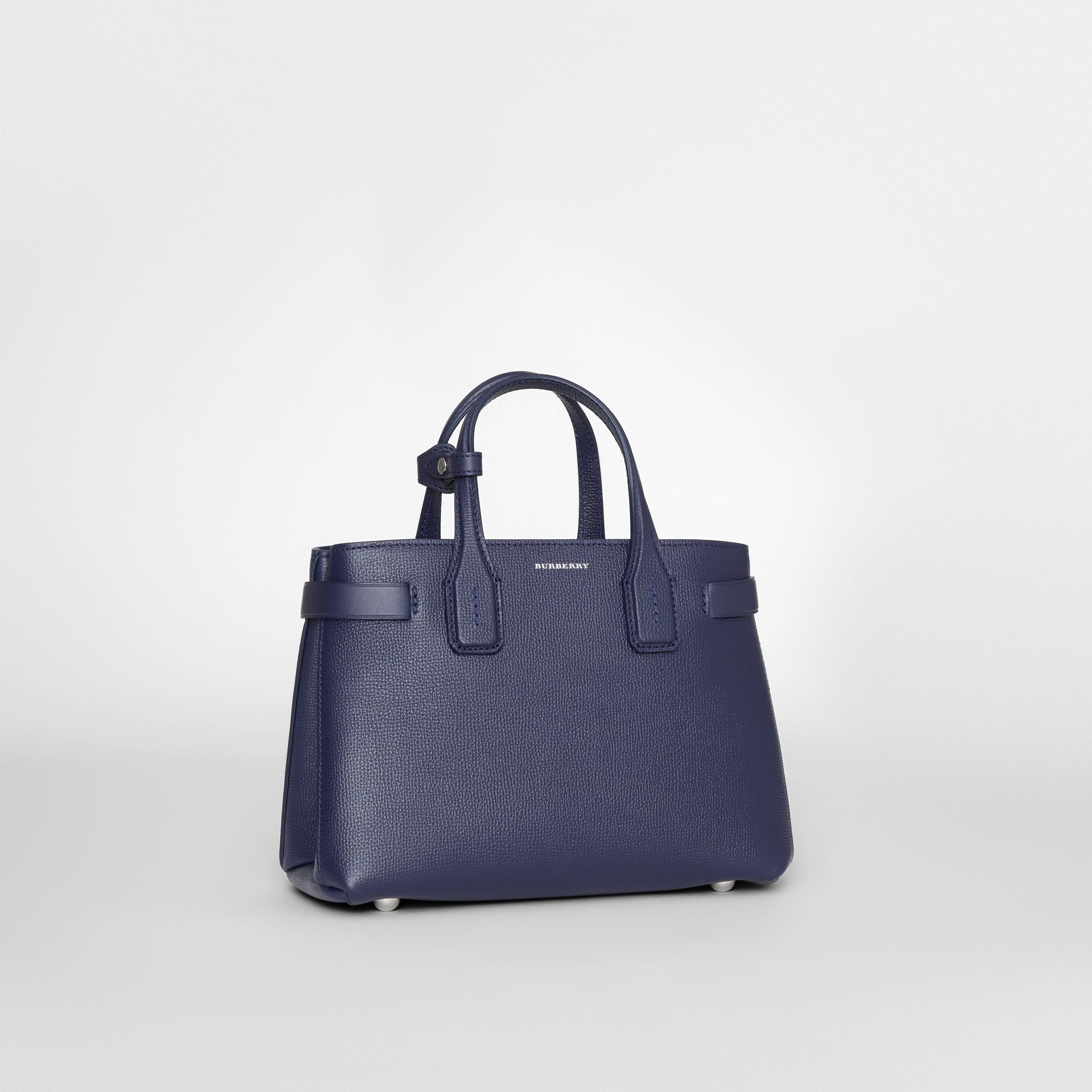 The Small Banner in Leather and Vintage Check in Regency Blue - Women | Burberry Singapore - gallery image 8