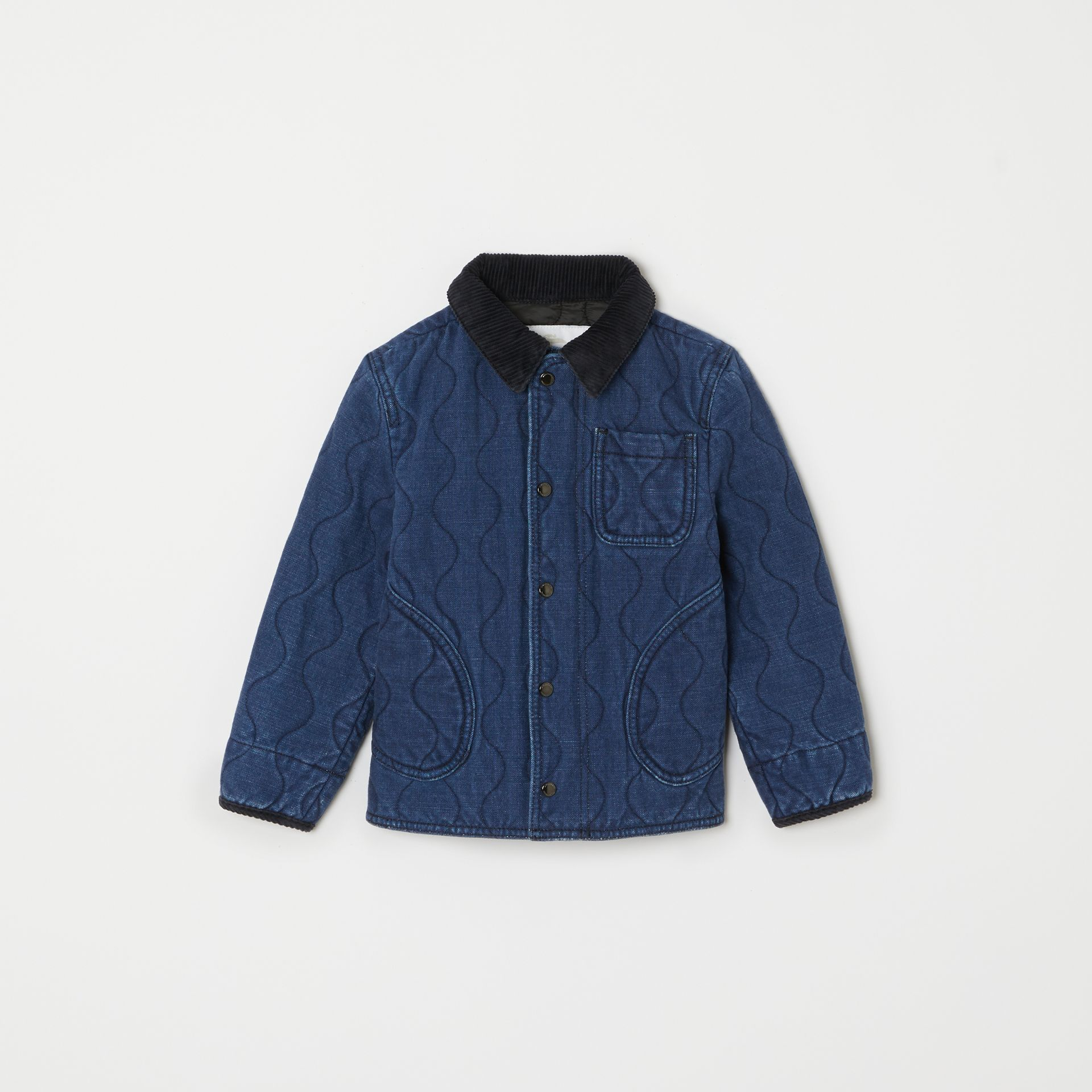 Quilted Denim Jacket in Indigo | Burberry - gallery image 0