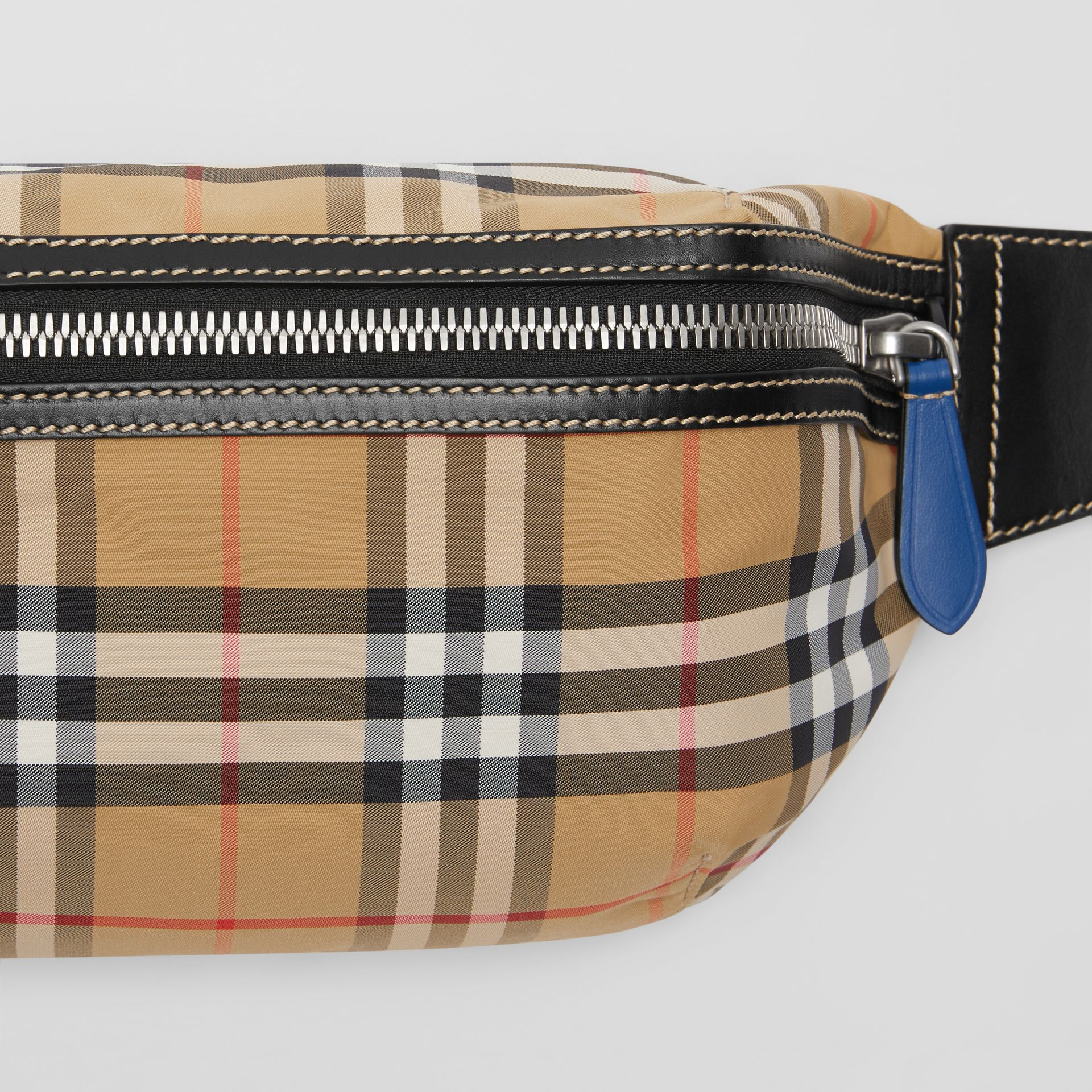 Medium Vintage Check Bum Bag in Antique Yellow | Burberry Singapore - gallery image 1