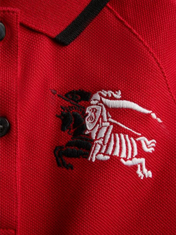 Robe polo avec bande (Rouge Vif) | Burberry - cell image 1