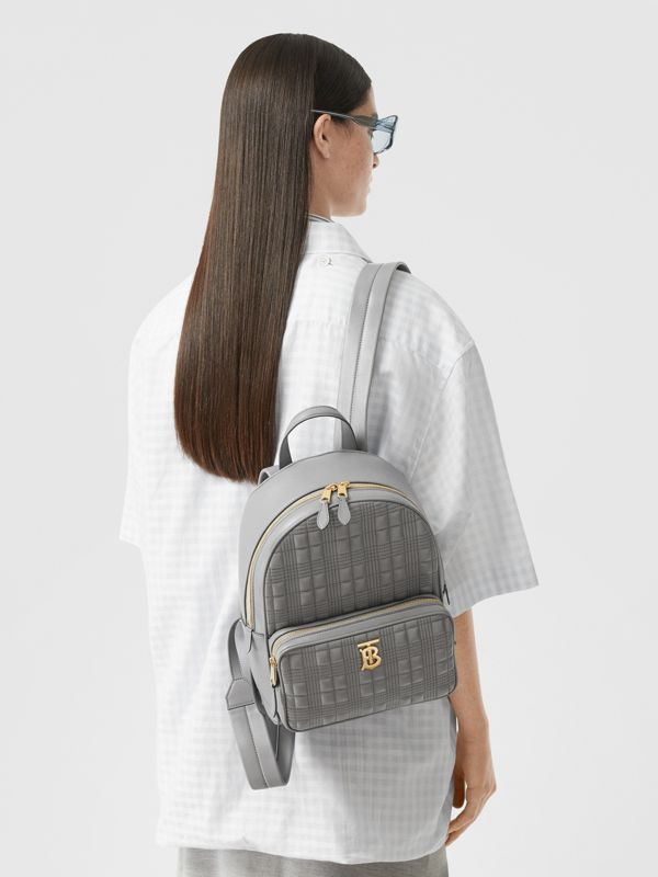 Quilted Lambskin Backpack in Cloud Grey - Women | Burberry United States - cell image 2