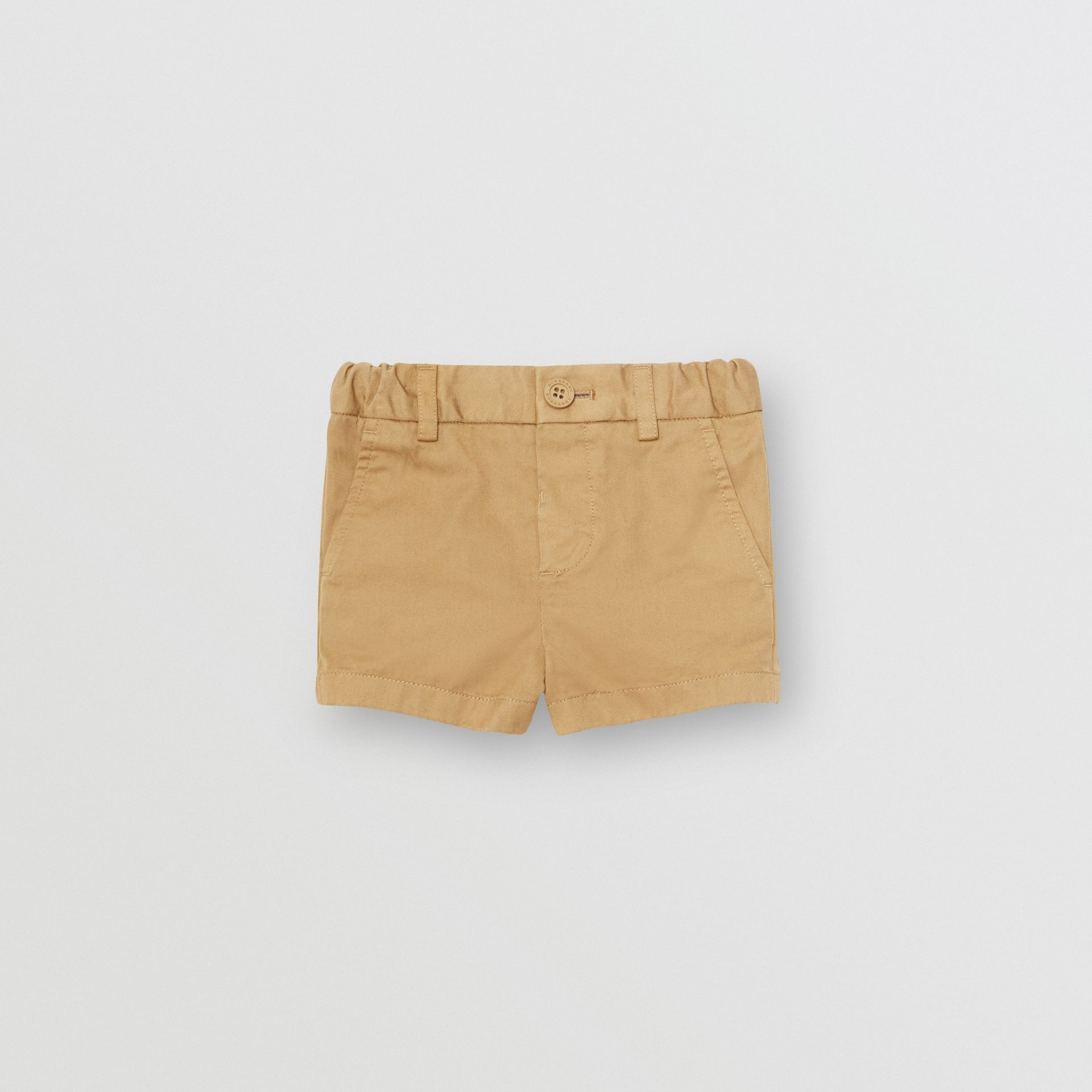 Cotton Chino Shorts in Taupe - Children | Burberry Canada - gallery image 0