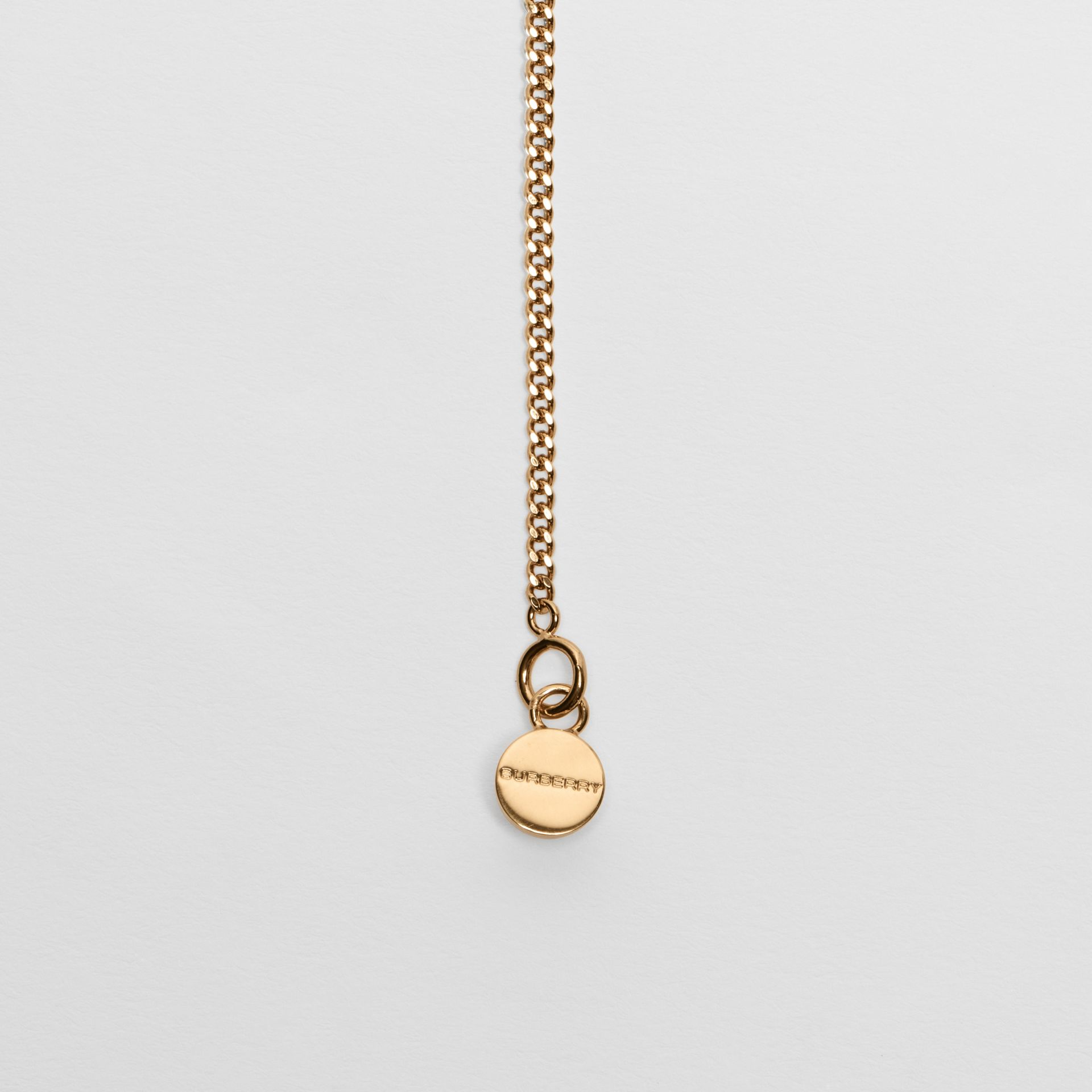 Gold-plated Chain Necklace in Light - Women | Burberry United Kingdom - gallery image 1