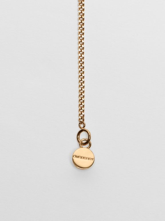 Gold-plated Chain Necklace in Light - Women | Burberry - cell image 1