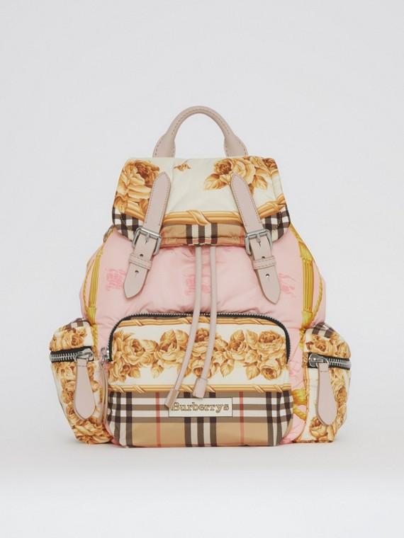 The Medium Rucksack mit Vintage-Aufdruck (Steinfarben)