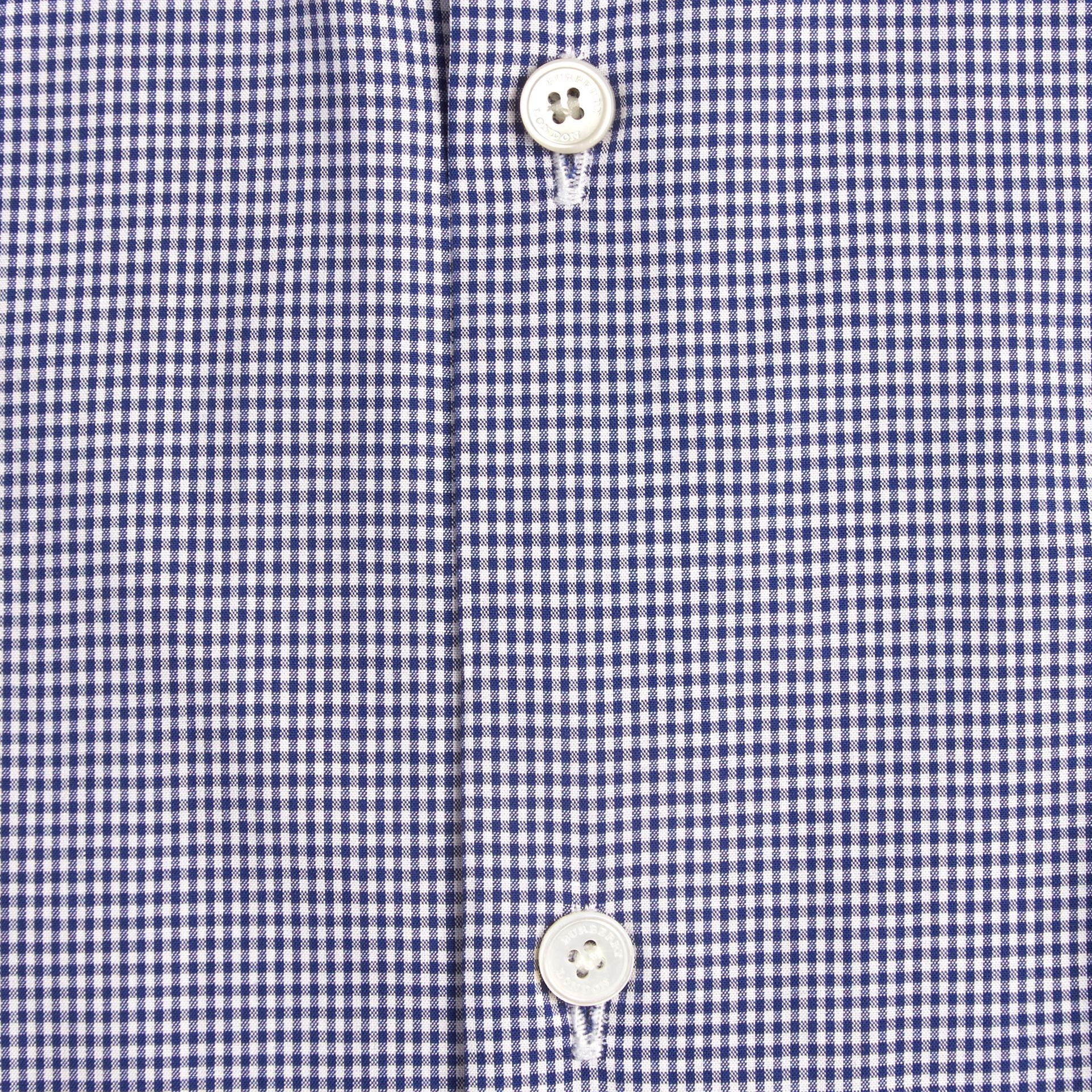 Dark empire blue Modern Fit Button-down Collar Gingham Cotton Poplin Shirt - gallery image 2