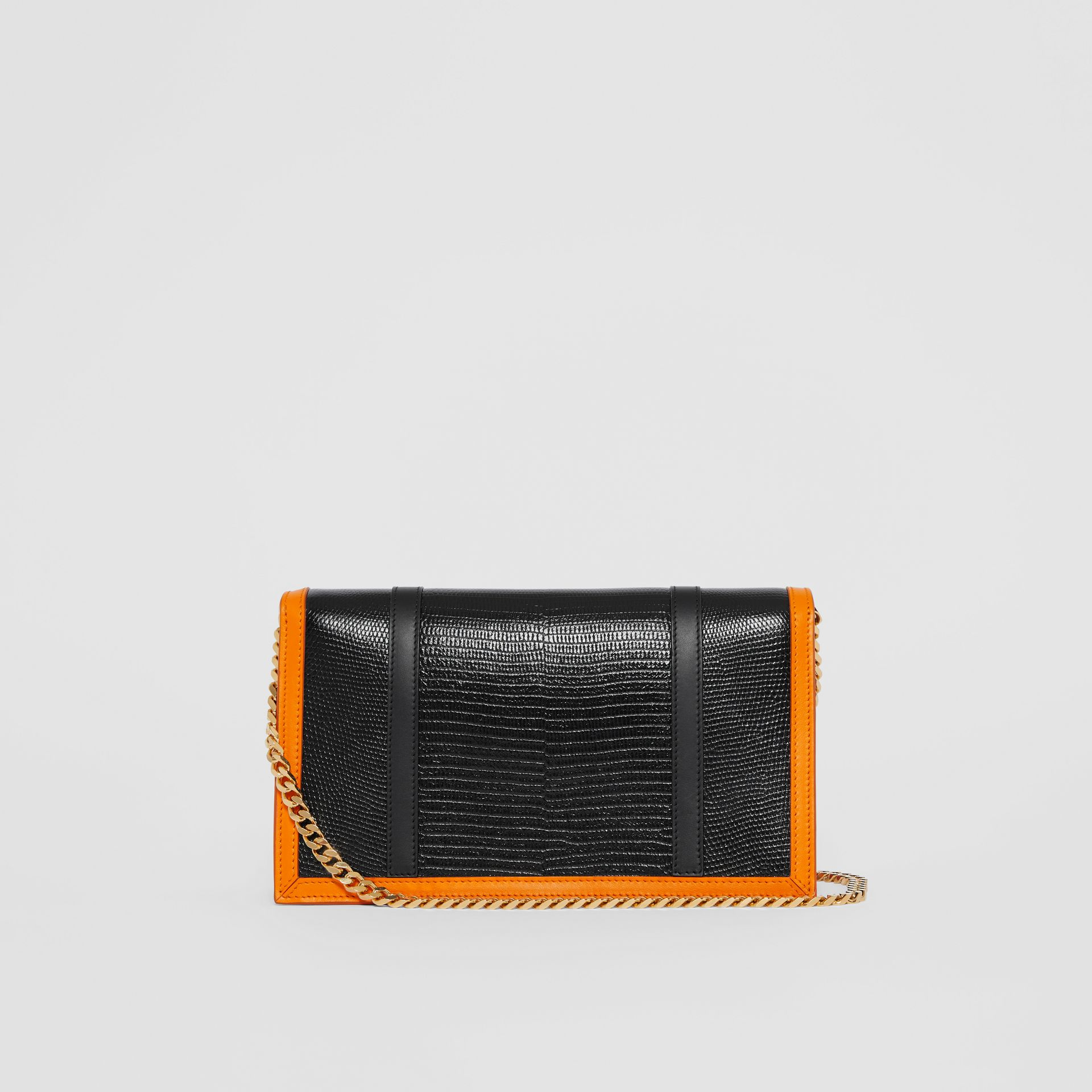 Small Embossed Leather TB Envelope Clutch in Tan - Women | Burberry - gallery image 6